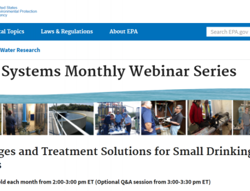 EPA's Small Drinking Water Systems Webinar Series